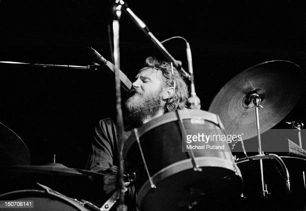 American Drummer Levon Helm of The Band performs at the Royal Albert Hall London 3rd June 1971