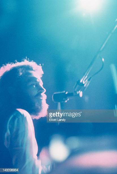 American drummer singer and multiinstrumentalist Levon Helm performing with The Band at the Fillmore East New York 9th May 1969