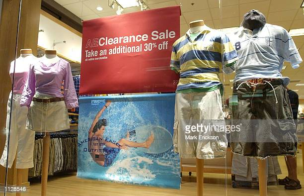 American Eagle Outfitters advertises a sale at the Mall of America July 16 2002 in Bloomington Minnesota The Mall of America is the largest shopping...