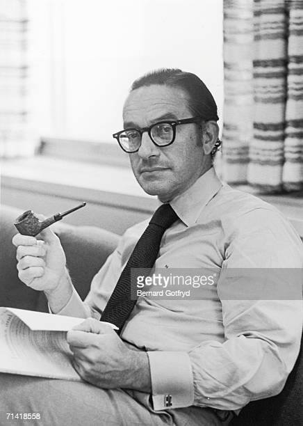 American economist and later Chairman of the Board of Governors of the Federal Reserve of the United States Alan Greenspan poses for a portrait as he...