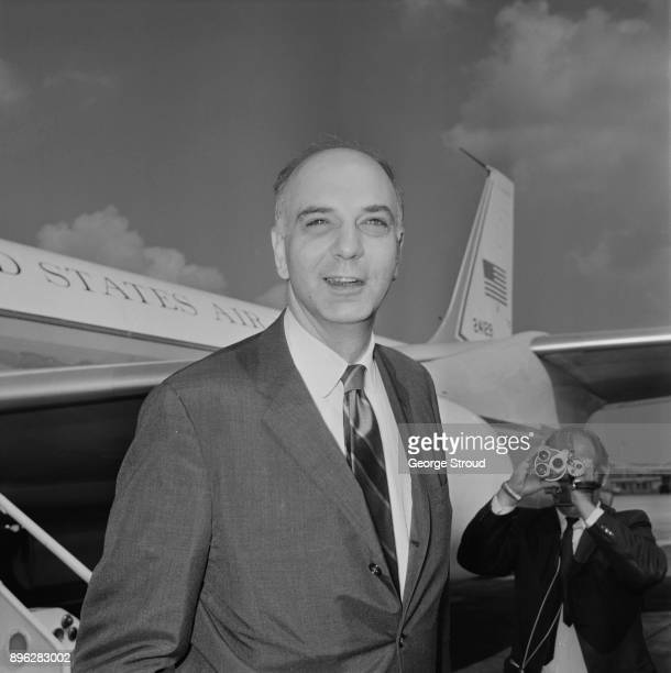 American economist and Under Secretary of the Treasury for International Affairs Paul Volcker at Heathrow Airport UK 17th August 1971