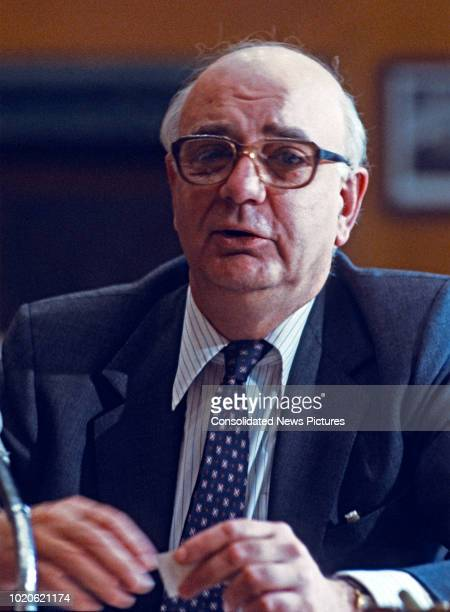 American economist Chairman of the Federal Reserve Paul Volcker testifies the US Senate Committee on Banking Housing and Urban Affairs Washington DC...