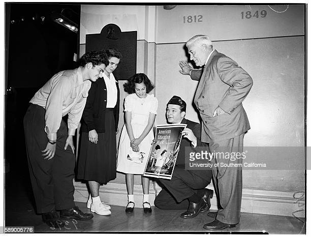 American Education Week at Patriotic Hall Arnold Parath 10 years Marion Shapiro 10 years Esther Ellenbogen 11 years Actor Chill Wills OL Horn...