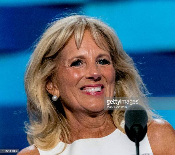 American educator Dr Jill Biden addresses the Democratic National Convention at the Wells Fargo Arena Philadelphia Pennsylvania July 28 2016