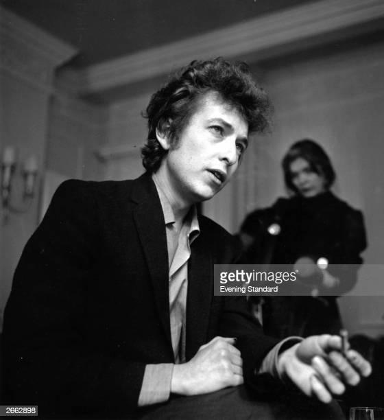 American electric folk singersongwriter Bob Dylan born Robert Zimmerman in London Original Publication People Disc HC0203