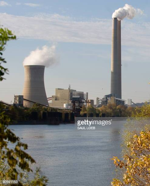 American Electric Power's Mountaineer coal power plant in New Haven, West Virginia, is seen from across the Ohio River in Racine, Ohio, October 30,...