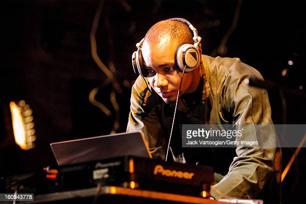 American electronic musician DJ Spooky, That Subliminal Kid performs at the 8th Annual Vision Festival at The Center at St. Patrick's Youth Center,...