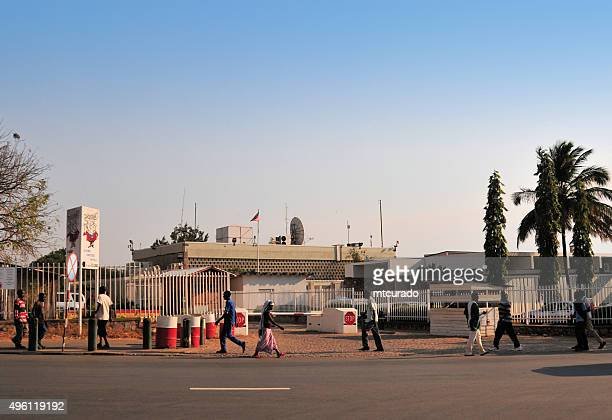 american embassy, bujumbura, burundi - burundi east africa stock pictures, royalty-free photos & images