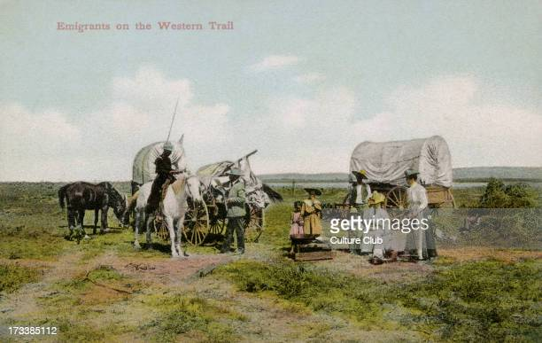 American emigrants on the Oregon trail After a photograph by G Clark Blakely early twentieth century
