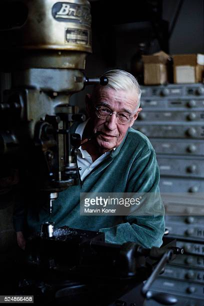 Vannevar Bush at a Drill Press