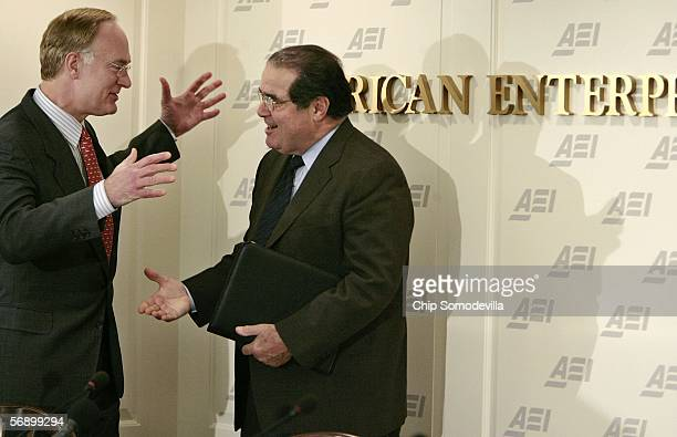 American Enterprise Institute President Christopher DeMuth welcomes United States Supreme Court Associate Justice Antonin Scalia to the institute...