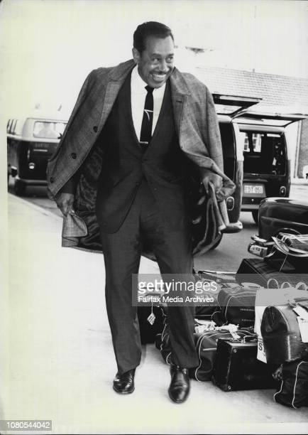 American Entertainer Cab Calloway who arrived by Fan American Airways to begin a season at ChequersCab trys out some dance steps at the Overseas...