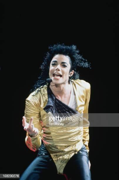 American entertainer Michael Jackson during his Dangerous World Tour circa 1992