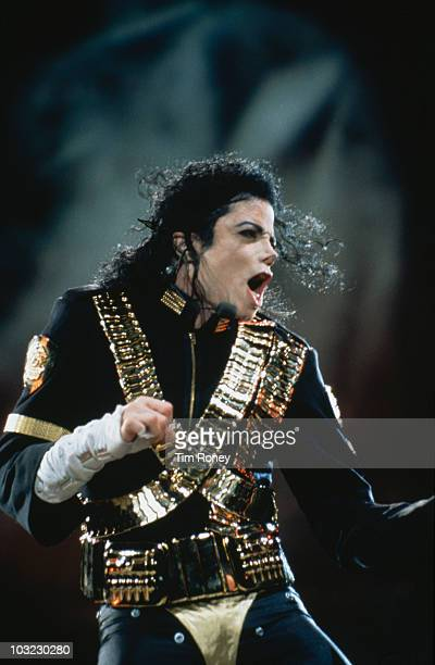 American entertainer Michael Jackson during his Dangerous World Tour circa 1992