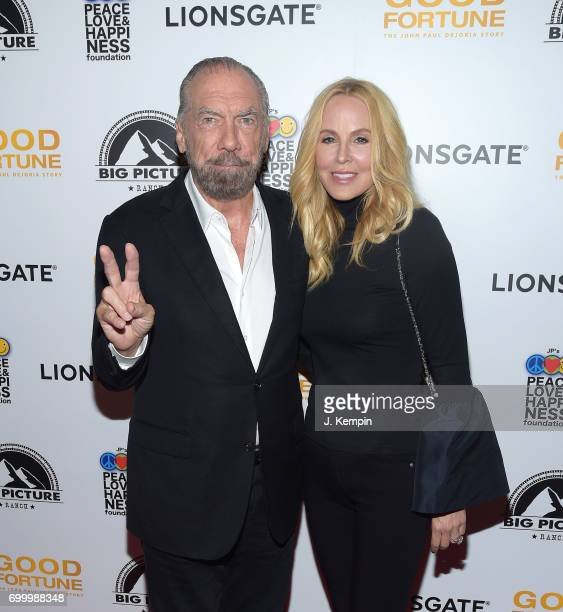 American entrepreneur John Paul DeJoria and wife Eloise Broady attend the Good Fortune New York Premiere at AMC Loews Lincoln Square 13 theater on...
