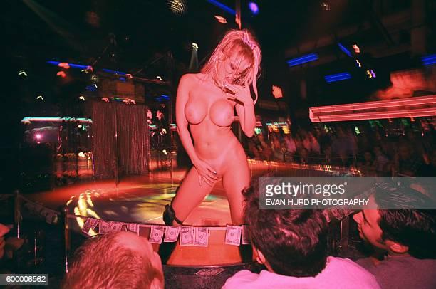 American entrepreneur webcam model and pornographic film actress performing in a club in Los Angeles