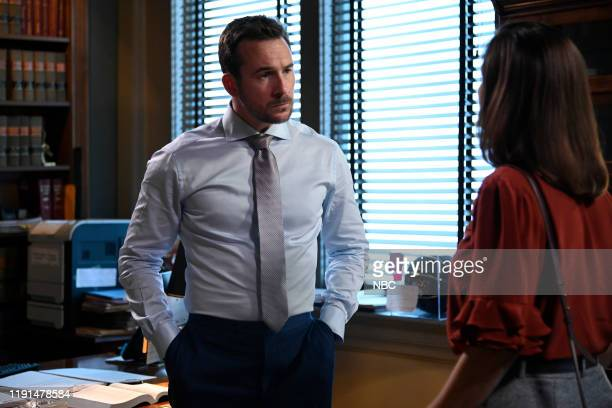 LAW American Epidemic Episode 107 Pictured Barry Sloane as Jake Reilly Stephanie Block as Sara Carpenter