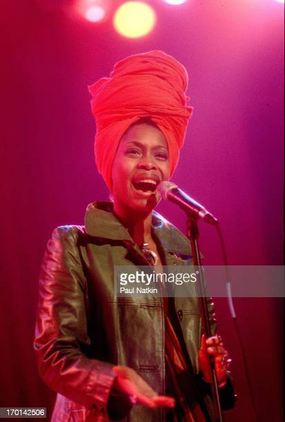 American Erykah Badu performs on stage Chicago Illinois May 1 1997