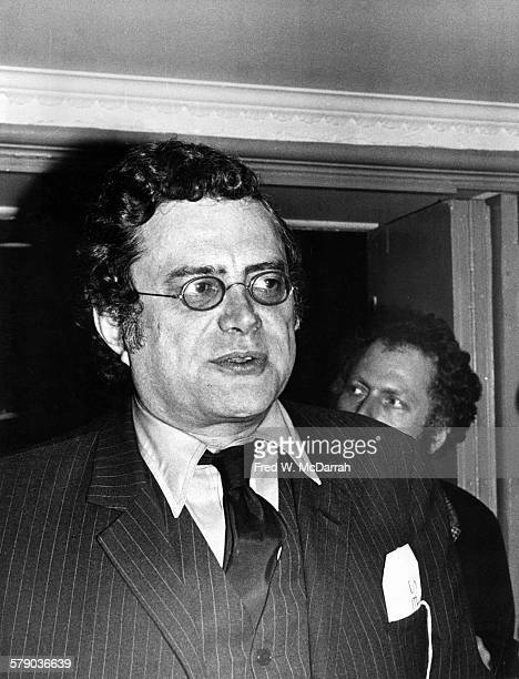 American essayist and literary critic Seymour Krim attends an unspecified event New York New York May 10 1974