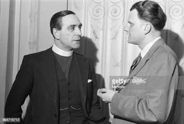 American evangelist Billy Graham hosts luncheon reception given for the clergy at the Cafe Royal in London at the start of his three month London...