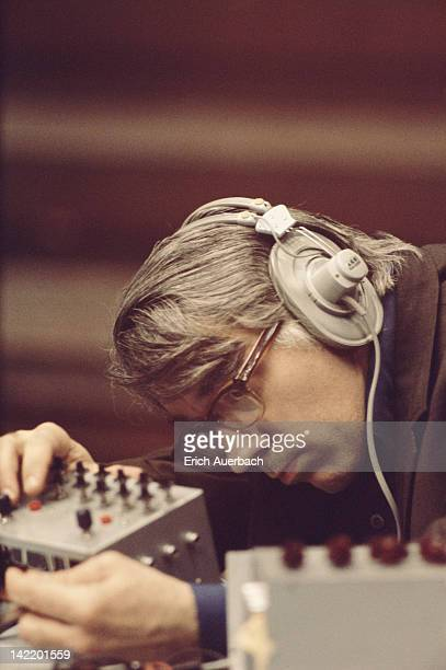 American experimental music composer David Tudor 22nd May 1972