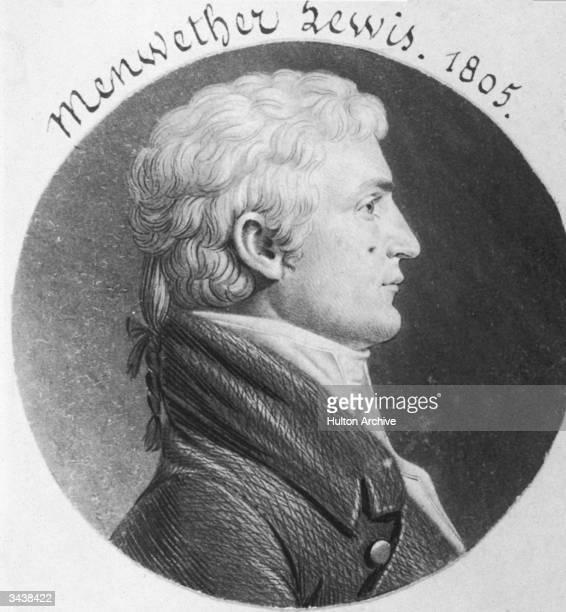 American explorer Meriwether Lewis Original Artwork Engraved by Charles St Memin