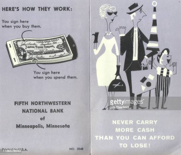 American Express ad featuring family for Northwestern Bank in Minneapolis, Minnesota in 1958. (Photo by Jim Steinfeldt/Michael Ochs Archives/Getty...
