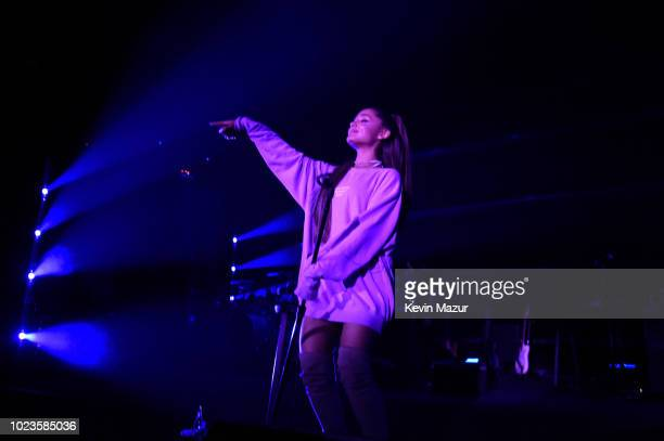 American Express and Ariana Grande present 'The Sweetener Sessions' at Ace Hotel on August 25 2018 in Los Angeles California