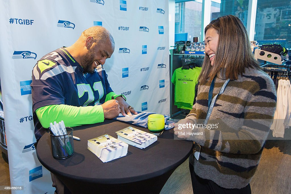 American Express celebrates Blue Friday with Seattle Seahawks legend  hot sale