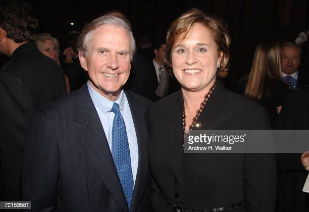 American Express' James Robinson joins Doro Bush Koch at a celebration for her book 'My Father My President' on October 11 2006 in New York City
