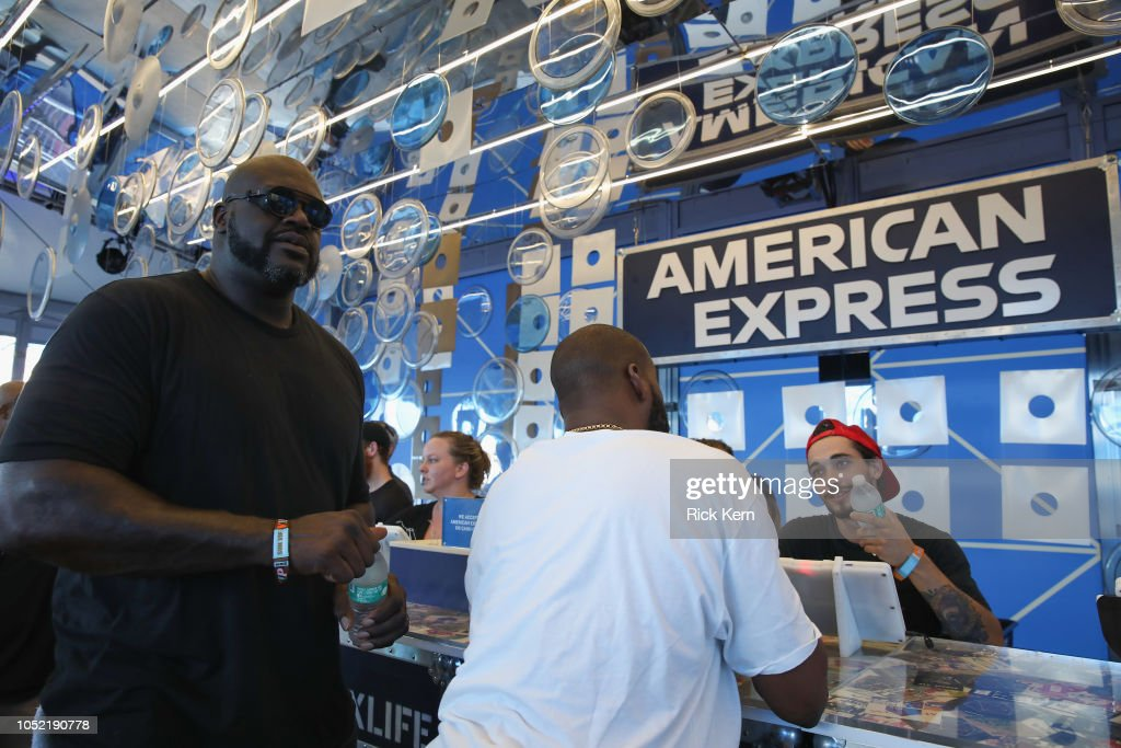 Shaquille Oâ™Neal Attends The 2018 Austin City Limits Festival With American Express In Austin, : News Photo