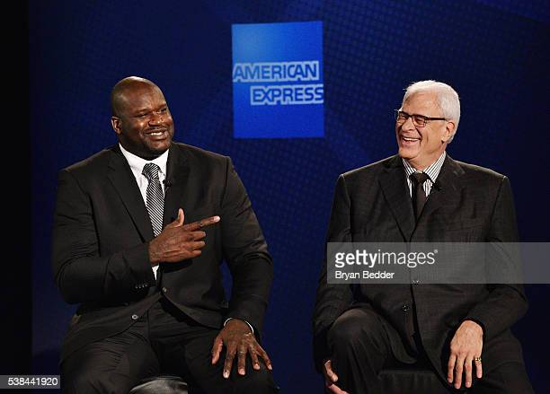 American Express teams up with Shaquille O'Neal and Phil Jackson at the Altman Building on June 6 2016 in New York City