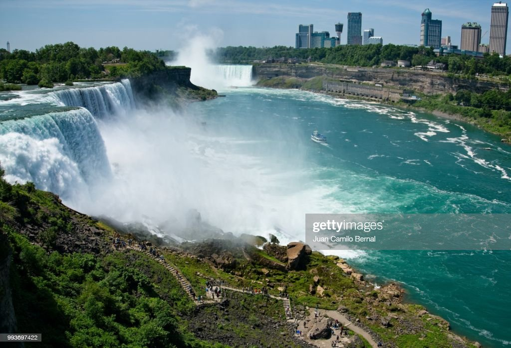 American Falls Bridal Veil Falls And Horseshoe Falls In Niagara