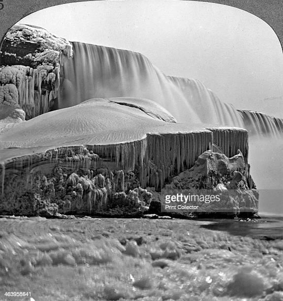 American Falls, Niagara Falls, in winter, New York, USA.