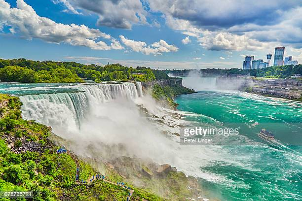 american falls on u.s side of niagara falls - niagara falls stock pictures, royalty-free photos & images