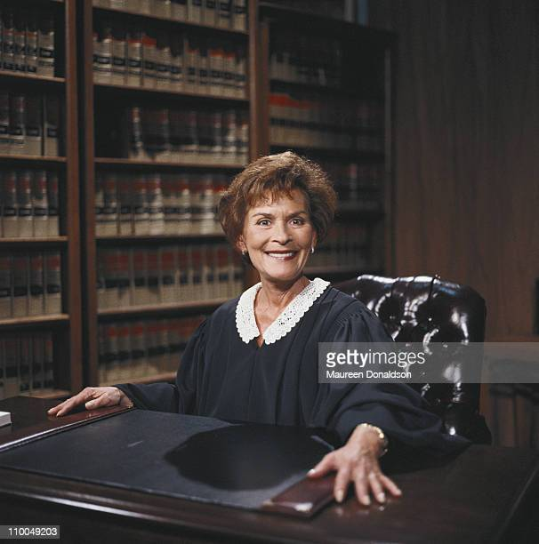 American family court judge Judith Sheindlin, who appears on the US television show 'Judge Judy', circa 2000.