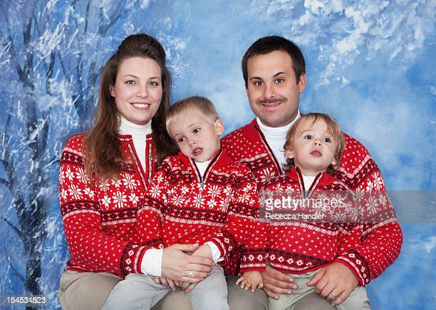 American Family with matching outfits