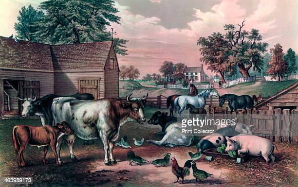 'American Farm Yard in the Evening', 1857.