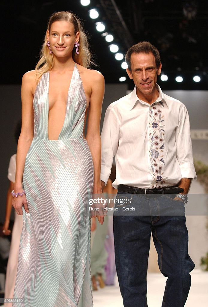 American Fashion Designer Ben De Lisi And A Model On The Catwalk At News Photo Getty Images
