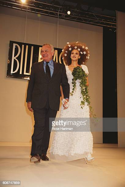 American fashion designer Bill Blass at his Spring '95 fashion show in New York City late 1994