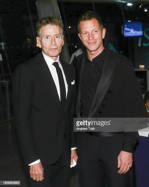 American fashion designer Calvin Klein and curator ThierryMaxime Loriot attend the VIP reception and viewing for The Fashion World of Jean Paul...