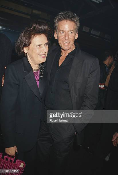American fashion designer Calvin Klein and fashion critic Suzy Menkes at the Visionaire party for issue 24 of 'Light' magazine New York City 1998