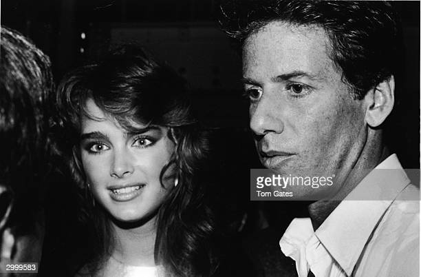 American fashion designer Calvin Klein and model/actor Brooke Shields attend the reoening of the Studio 54 nightclub New York City September 15 1981