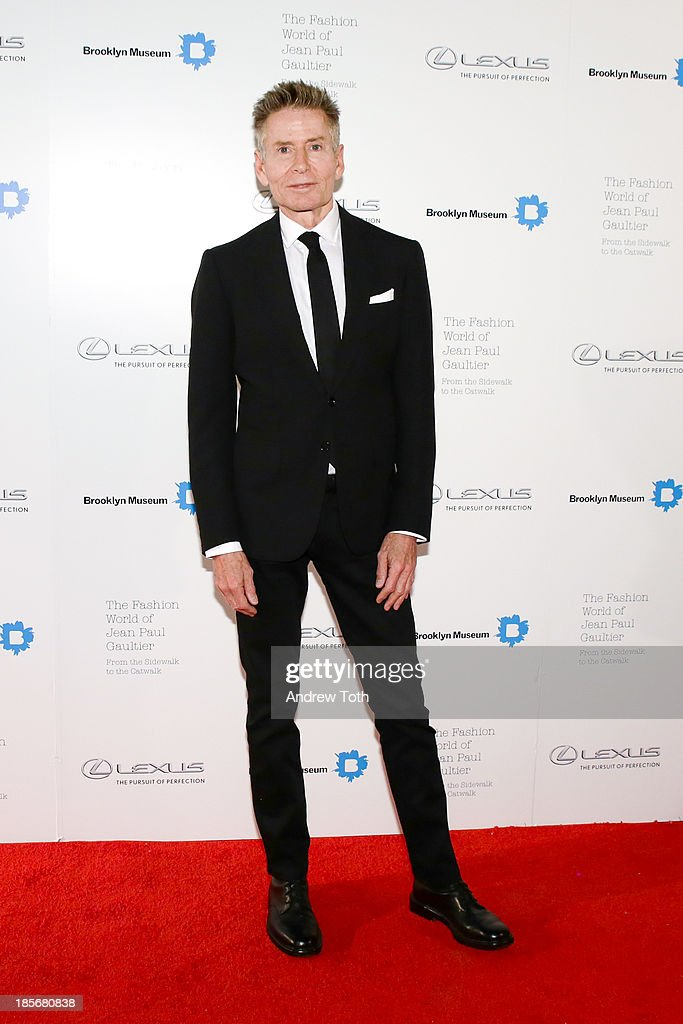 American fashion designer Calvin Klein attends the VIP reception and viewing for The Fashion World of Jean Paul Gaultier: From the Sidewalk to the Catwalk at the Brooklyn Museum on October 23, 2013 in the Brooklyn borough of New York City.