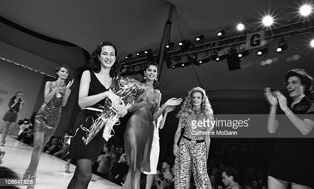 American fashion designer Cynthia Rowley at a show of her fashions in the 1990s in New York City New York