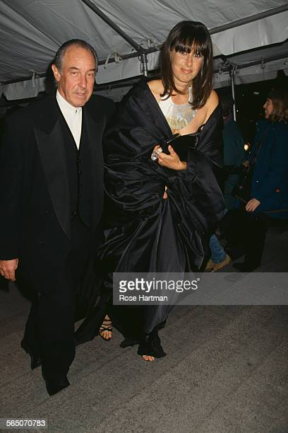 American fashion designer Donna Karan with her husband Stephan Weiss attend the Costume Institute Gala at the Metropolitan Museum of Art New York...