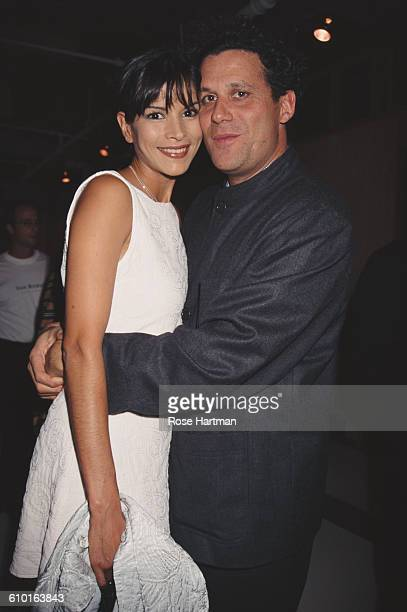 American fashion designer Isaac Mizrahi and model Patricia Velasquez at an NYC Ballet gala at the Lincoln Center New York 1995