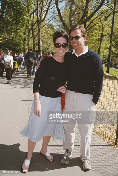 American fashion designer Kate Spade with her husband Andy Spade at a benefit for the 'Elizabeth Glaser Pediatric AIDS Foundation' being held at the...