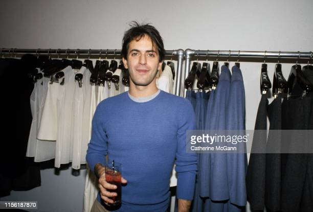 American fashion designer Marc Jacobs poses for a photo backstage at a fashion show in September 1997 in New York City, New York