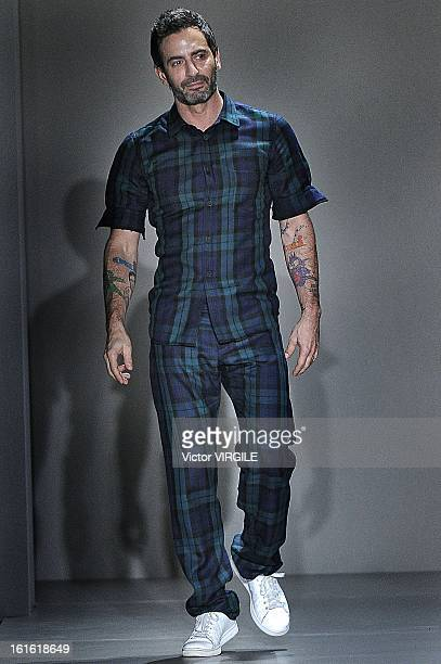 American fashion designer Marc Jacobs walks the runway at the Marc By Marc Jacobs Ready to Wear Fall/Winter 20132014 fashion show during MercedesBenz...